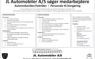 Personale søges – Mekaniker/tekniker – Klargøringsmand
